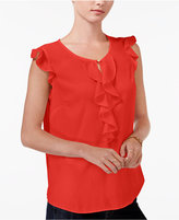 Maison Jules Ruffled Flutter-Sleeve Top, Only at Macy's