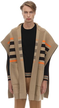 Burberry Hooded Wool Blend Cape