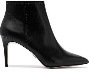 Donna Karan Lizzy Studded Leather Ankle Boots