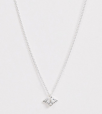 Angel Heart Asos Design ASOS DESIGN sterling silver necklace with crystal pendant