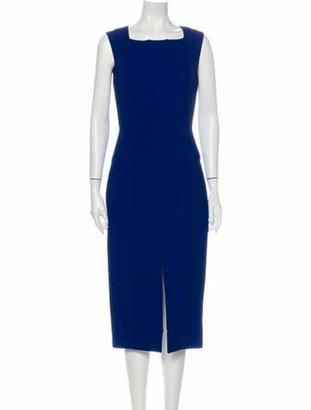Roland Mouret Square Neckline Knee-Length Dress Blue