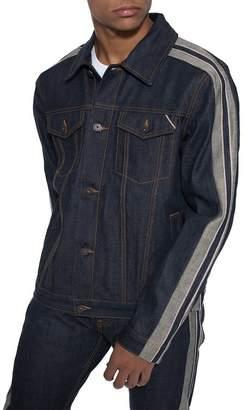 Cult of Individuality Type 2 Sleeve Stripe Denim Jacket