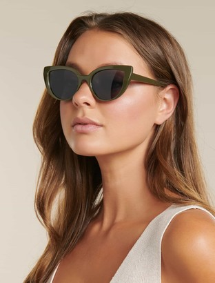 Forever New Camilla Cateye Sunglasses - Khaki - 00