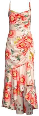 Parker Black Adriana Floral High-Low Midi Dress