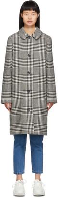 A.P.C. Black Houndstooth Peel Coat