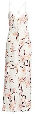 Zimmermann Women's Corsage Linen Orchid Maxi Dress