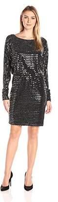 Jessica Howard Jessicahoward JessicaHoward Women's Long Ruched Sleeve Blouson Dress