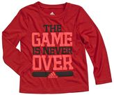 "adidas Boys 4-7x climalite ""The Game Is Never Over"" Tee"