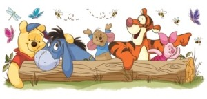 York Wall Coverings York Wallcoverings Winnie The Pooh - Pooh and Friends Outdoor Fun Peel and Stick Giant Wall Decals