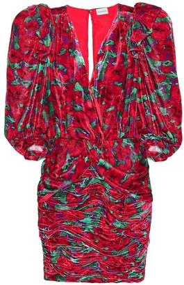 Magda Butrym Floral velvet minidress
