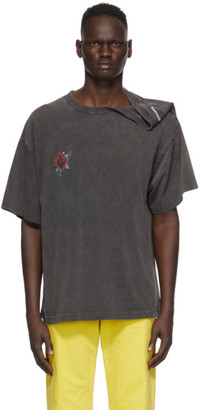 Y/Project Grey Rose Clipped Shoulder T-Shirt
