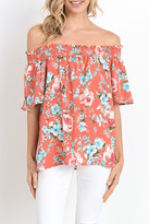 Gilli Of Shoulder Floral Top