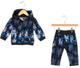 Roberto Cavalli Boys' Abstract Print Hooded Jogger Set w/ Tags
