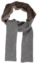 3.1 Phillip Lim Fur Rib Knit Scarf w/ Tags