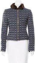 Carolina Herrera Mink-Trimmed Wool Jacket