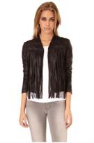 SW3 - Harley Fringe Jacket In Black Faux Leather