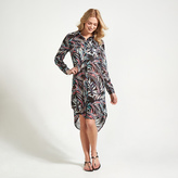 Apricot Multi-Coloured Tropical Palm Print Shirt Dress