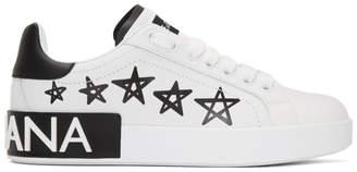 Dolce & Gabbana White Portofino Stars Sneakers