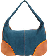 L'Agence Embroidered Corner Top Zip Hobo