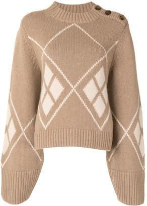 KHAITE The Brie argyle jumper