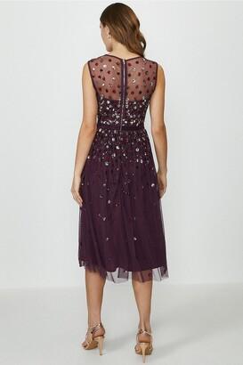 Coast Cluster Embellished Midi Dress