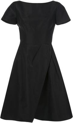 Carolina Herrera wrap flared midi dress
