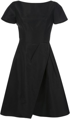 Carolina Herrera Wrap Flared Midi Dress