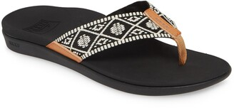 Reef Ortho-Bounce Woven Flip Flop