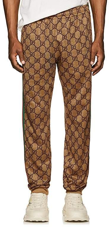 Gucci Men's GG Supreme Tech-Jersey Jogger Pants