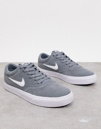 Nike SB Charge suede trainers in grey/off white