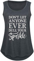 Instant Message Plus Women's Tank Tops HEATHER - Heather Charcoal 'Don't Let Anyone Dull Your Sparkle' Tank - Plus