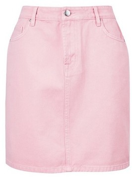 Dorothy Perkins Womens Pink Denim Mini Skirt, Pink