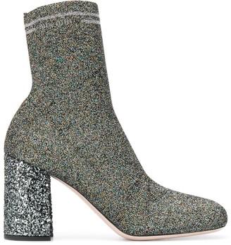 Miu Miu Knit Fabric Boots