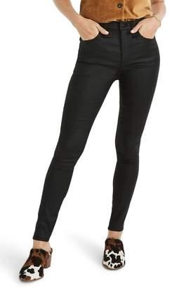 Madewell 10 Coated Edition High Waist Skinny Jeans