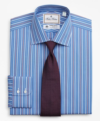 Brooks Brothers Luxury Collection Milano Slim-Fit Dress Shirt, Franklin Spread Collar Multi-Stripe