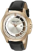 Kenneth Cole New York Men's 'Transparency' Quartz Stainless Steel and Leather Dress Watch
