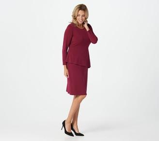 Susan Graver Every Day by Liquid Knit Peplum Dress