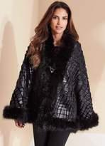 Kaleidoscope Embossed Faux Fur Wrap