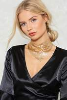 Nasty Gal Hell Bent Chainmail Necklace