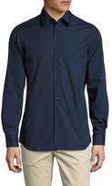 Prada Solid Spread Collar Dress Shirt
