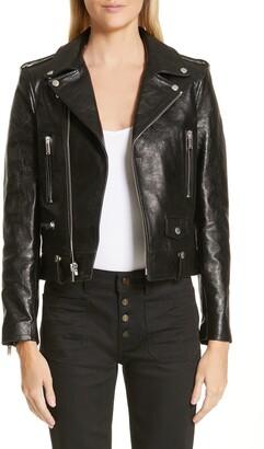 Saint Laurent Classic Leather Moto Jacket