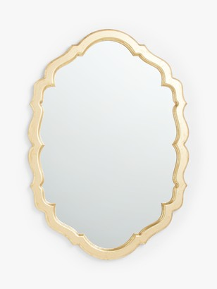 John Lewis & Partners Scallop Edge Wall Mirror, 101 x 71cm, Antique Gold