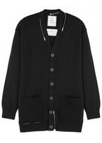 Maison Mihara Yasuhiro Black Zipped Wool Cardigan