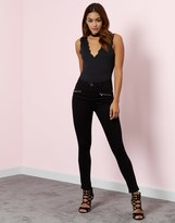 Lipsy Super Stretch Zip Skinny Jeans