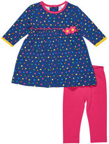 Florence Eiseman Long-Sleeve Polka-Dot Top w/ Leggings, Size 3-24 Months