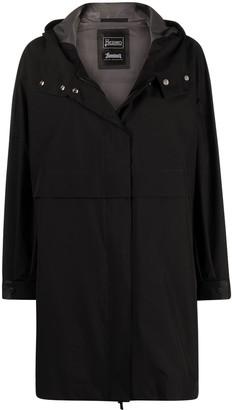 Herno Concealed Fastening Hooded Coat