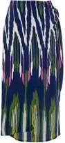Warehouse Rainbow Ikat Tie Front Skirt