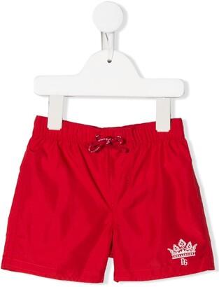 Dolce & Gabbana Kids Logo Print Swim Shorts