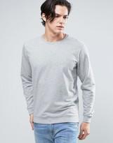 Solid Sweatshirt In Light Gray