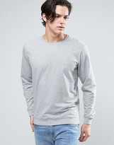Solid Sweatshirt In Light Grey